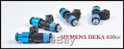 1.8T Audi A4 VW Passat Jetta Golf Beetle Siemens Deka 650cc Fuel Injectors turbo