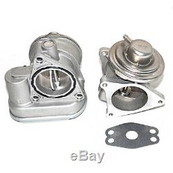 Für Audi VW Drosselklappenstutzen 038128063M +AGR Ventil Abgasrückführungsventil
