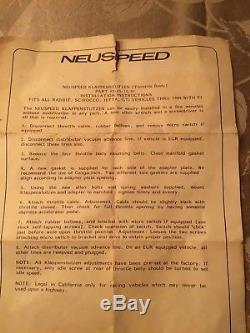 VW Neuspeed Throttle Body For MK1 Golf Jetta Rabbit Scirocco Very Rare